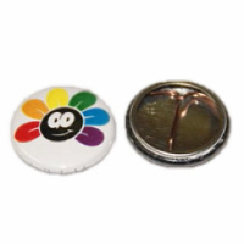 Regenbogen Button Blume