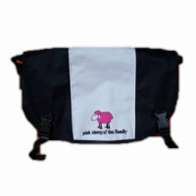 Nylontasche grau Pink Sheep