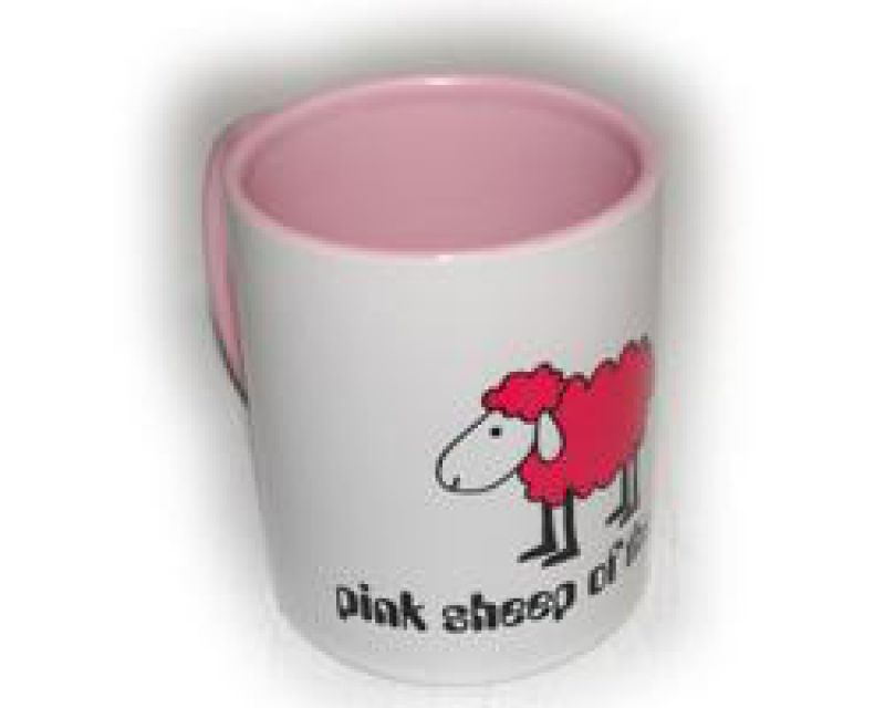 Pink Sheep - Tasse weiß/rosa