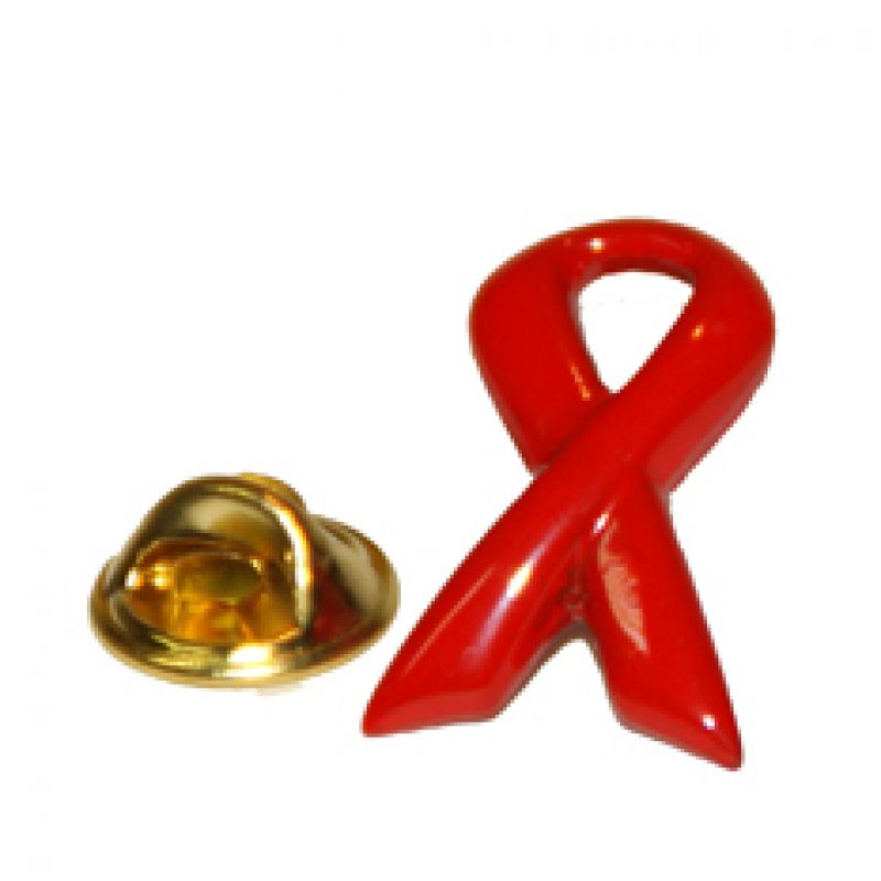 Pin Schleife AIDS-Ribbon gross